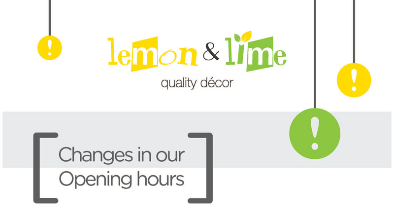 Changes in our Opening Hours